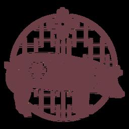 Composición del cerdo del horóscopo chino