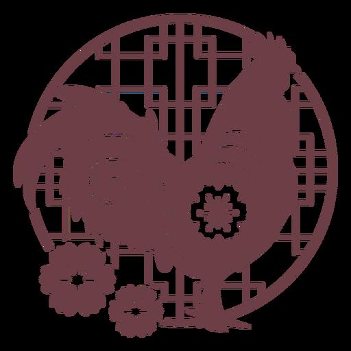 Composición del gallo del horóscopo chino