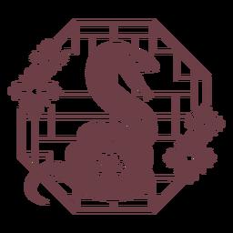 Chinese horoscope snake composition