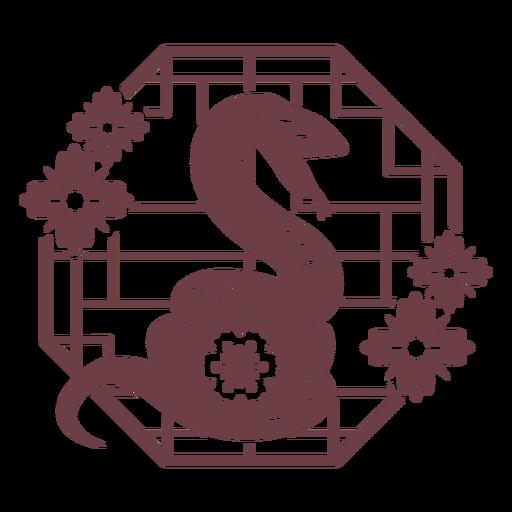 Composici?n de la serpiente del hor?scopo chino
