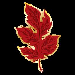 Red crysanthemum leaf