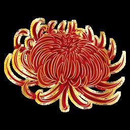Flor roja china