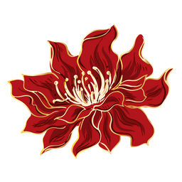 Chinese red flower design