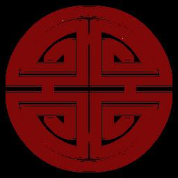 Chinesisches Symbol geometrisch