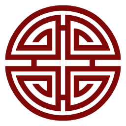 Símbolo chinês geométrico