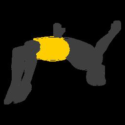 Silueta de hombre saltando acantilado