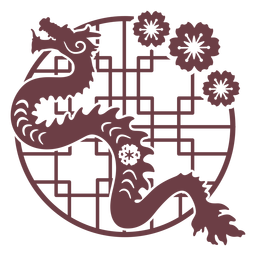 Dragão chinês do horóscopo da composição