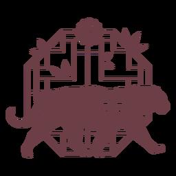 Tigre de horóscopo chinês de composição