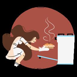 Horno de cocina mujer color