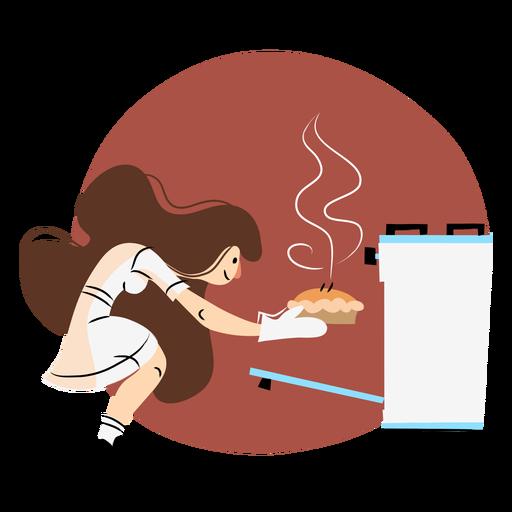 Cocinar horno mujer color