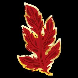 Red chinese crysanthemum leaf