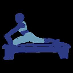 Pilates reformer silhouette fitness