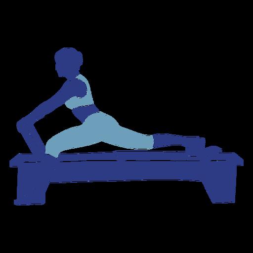 Reformador de Pilates silueta fitness Transparent PNG