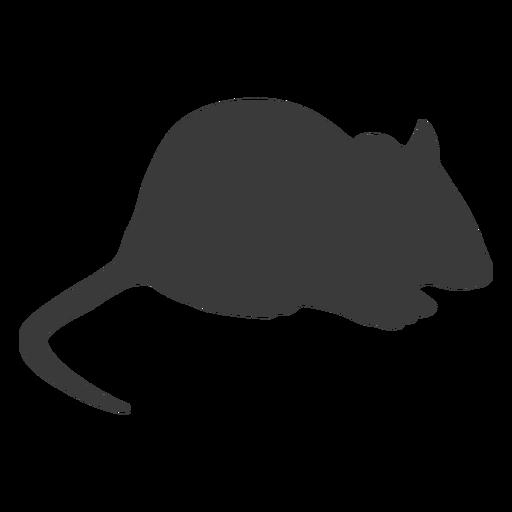 Silueta de ratón agachado
