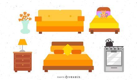 Ilustración de muebles