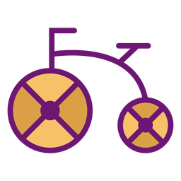 Icon bicycle colored