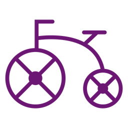 Icon bicycle stroke