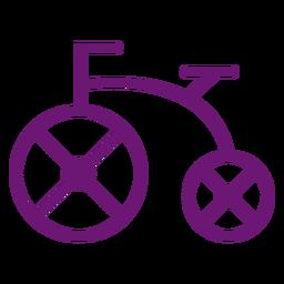 Icono de trazo de bicicleta