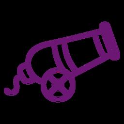 Icon cannon stroke