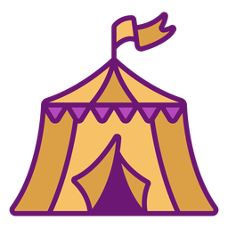 Carpa de circo icono color
