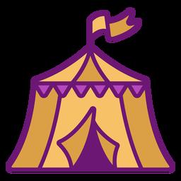 Ícone da tenda de circo colorida