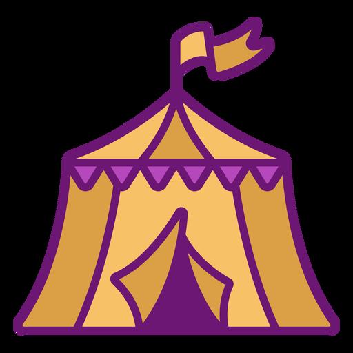 Icon circus tent colored