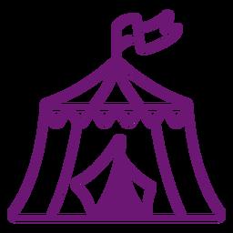 Curso de tenda de circo de ícone