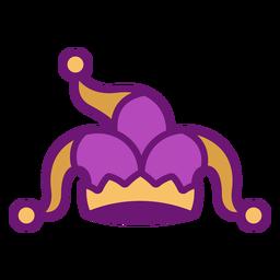 Sombrero de payaso de icono de color