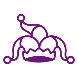Icono de trazo de sombrero de payaso