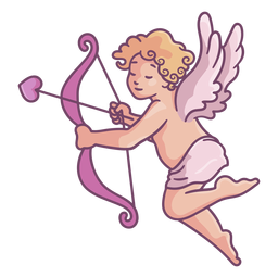 Cute cupid pose
