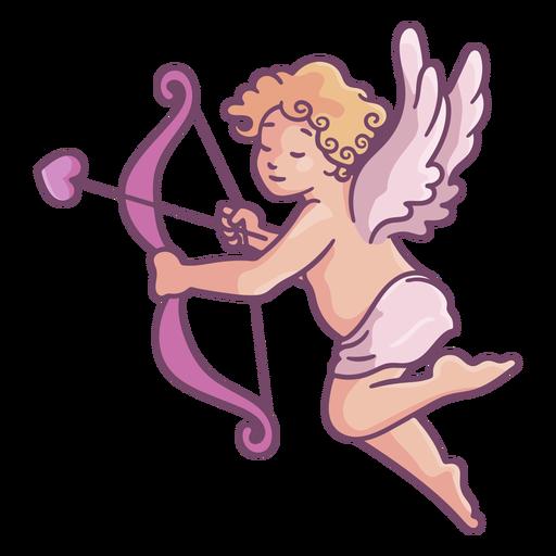 Linda pose de Cupido