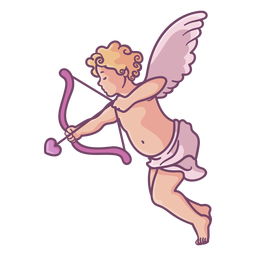 Linda flecha de tiro Cupido