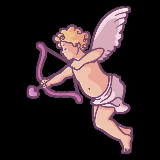Cute cupid shooting arrow Transparent PNG