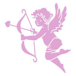 Cute cupid silhouette pose