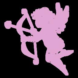 Pose de silueta de Cupido lindo