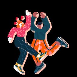 Lindo casal dançando