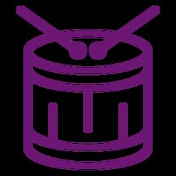 Icon drum stroke
