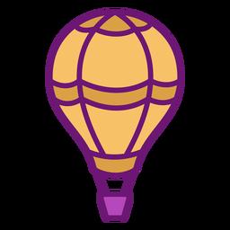 Balão de ar quente de ícone colorido