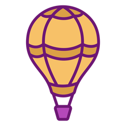 Icon hot air balloon colored