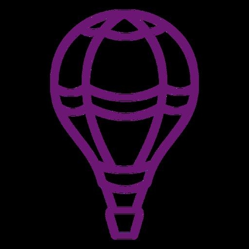 Icon hot air balloon stroke