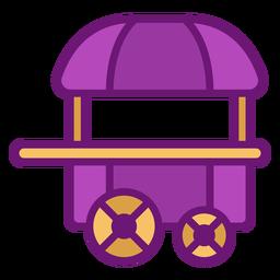 Carrinho de pipoca de ícone colorido