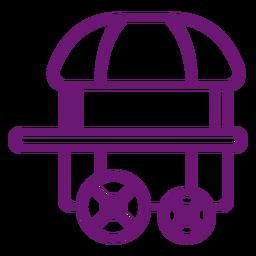 Curso de carrinho de pipoca de ícone