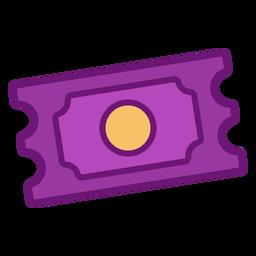Billete de icono coloreado