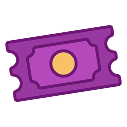 Icon ticket colored
