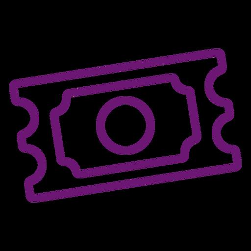 Icono de trazo de boleto Transparent PNG