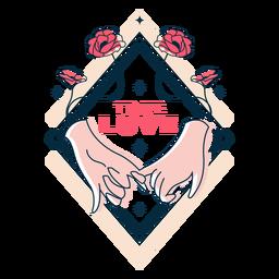 Distintivo bonito amor verdadeiro
