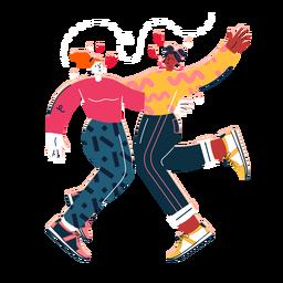 Linda mujer bailando pareja