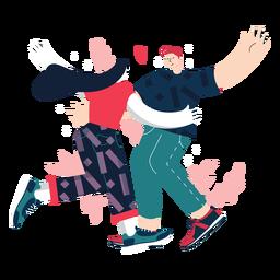 Casal fofo dançando