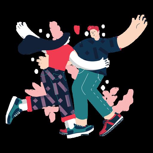 Dancing cute couple