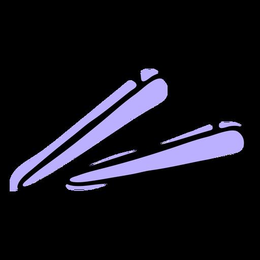 Duotone hair clips